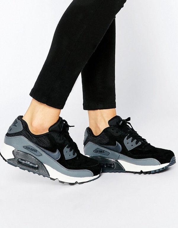 745b6594 Кроссовки женские Nike Air Max 90 Black And Grey оригинал купить в Киеве