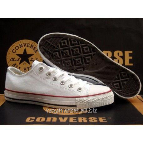 Кеды Converse All Star Женские конверс - оригинал (конверсы низкие белые)  white low e43735e0670