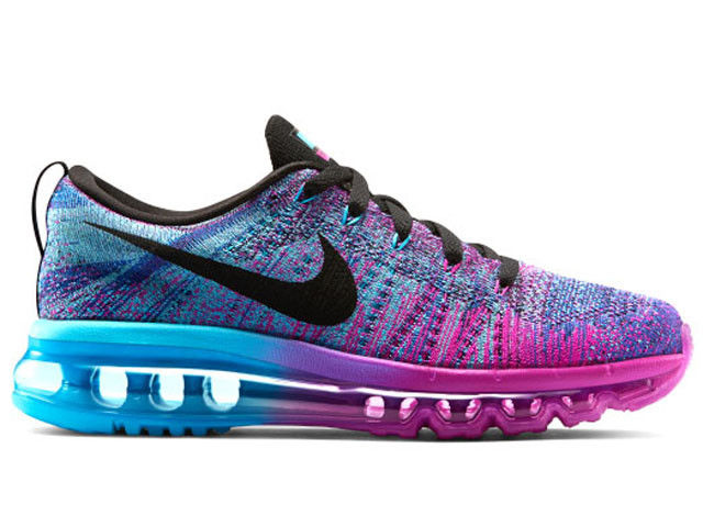 8881a594 Женские кроссовки Nike Air Max Flyknit Purple фиолетово-синие для бега