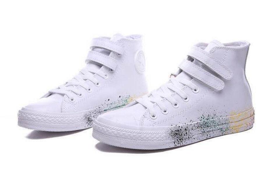 Кеды мужские Converse All Star White Leather Paint Кожа белые Оригинал eb366d6f53afa