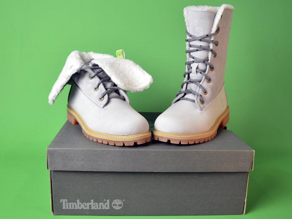 Ботинки Timberland Teddy Fleece China Brown (мех) белые тимберленды женские 1bc8e790e644a