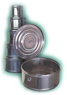 Купить Коробка стерилизационная круглая с фильтром КСКФ-12 (Объем 12 дм3, Диаметр 325мм)