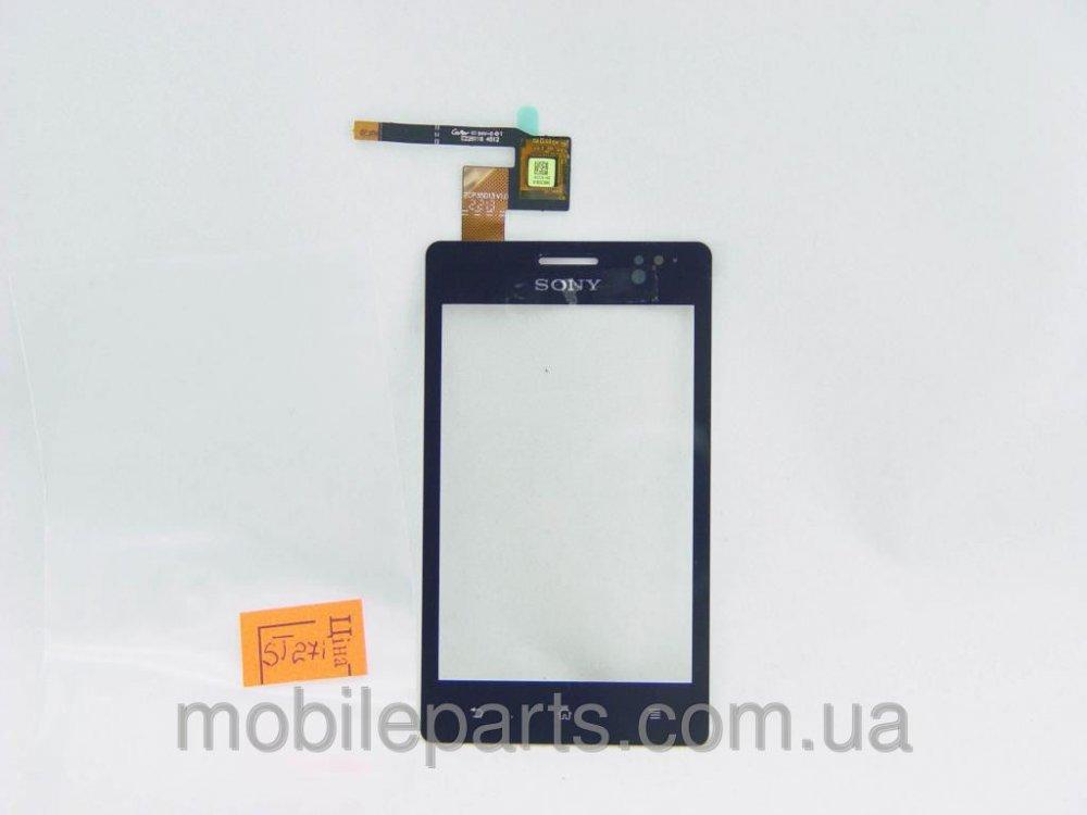 Сенсор тачскрин Sony Xperia Go ST27i черный