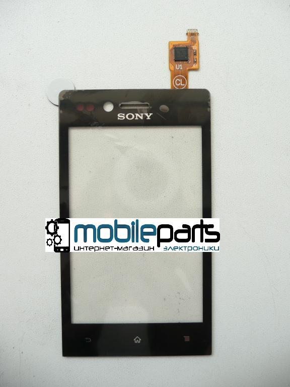 Сенсор тачскрин Sony Xperia Miro ST23i черный
