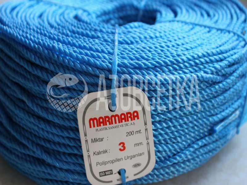 Купить Полипропиленовая веревка Marmara 3,0 мм, бухта 200 м