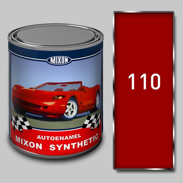 Купить Алкидная автомобильная краска Mixon Synthetic, Рубин 110, 1 л