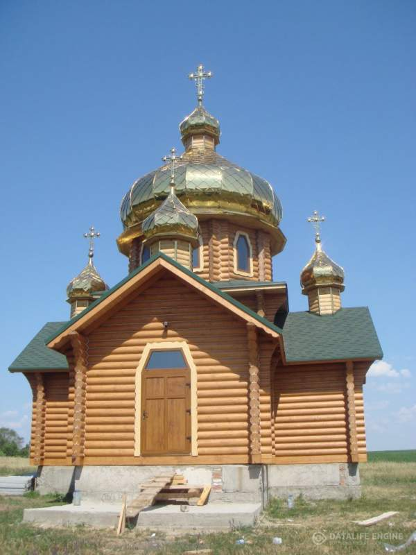 Купол храма цвет золото, покрытие нитрид титана