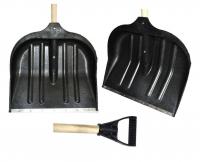 Купить Лопата снегоуборочная пластиковая с черенком держатель