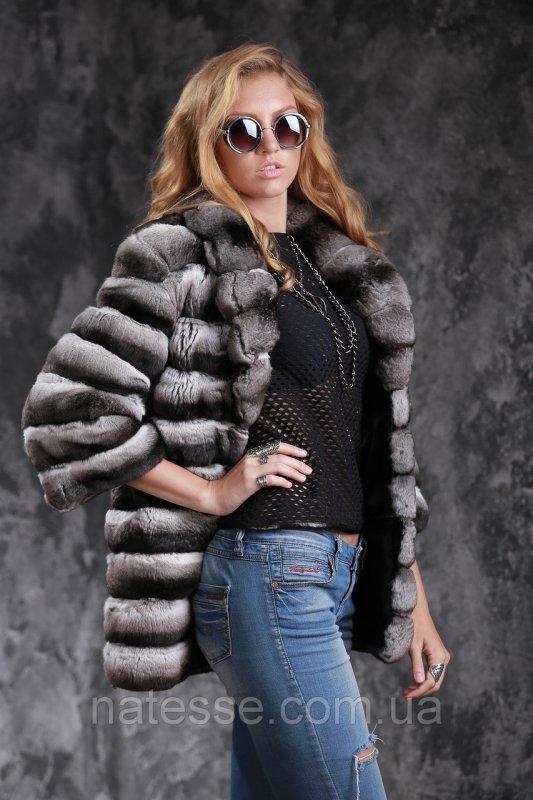 Шуба полушубок из шиншиллы Natural chinchilla fur coats jackets
