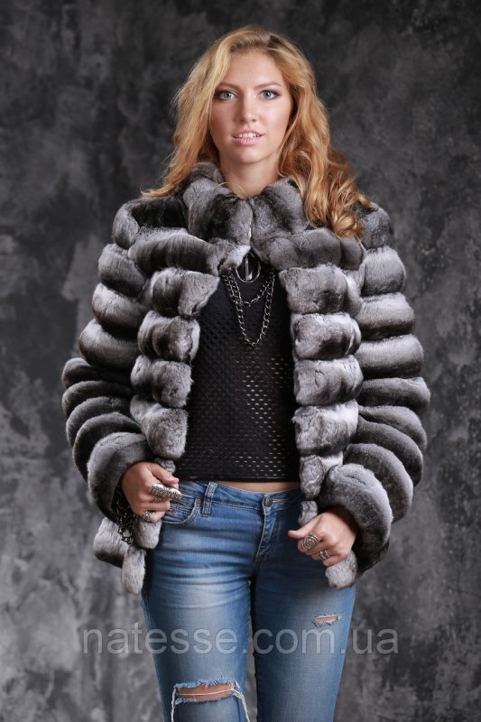 Шуба из шиншиллы Natural chinchilla fur coats jackets
