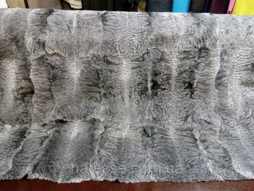 Buy The plate of a broadtail Afghan gray color, the size is 160*120 cm