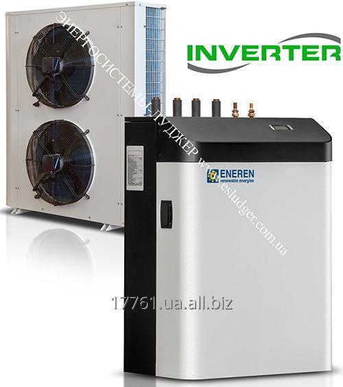 Реверсивный инверторный воздух - вода тепловой насос типа сплит система с функцией производства бытовой горячей воды ENEREN HHP  3-40 кВт