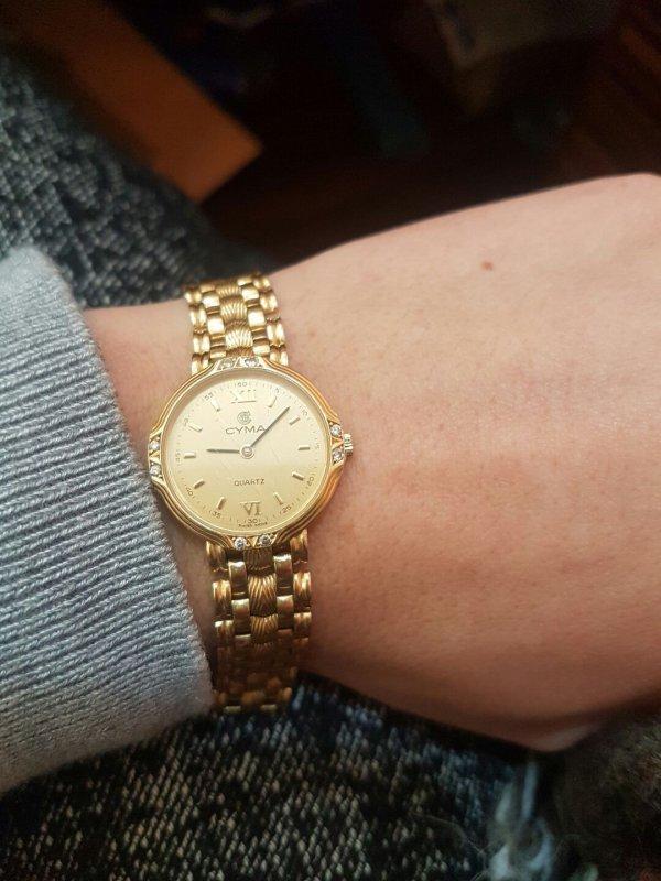 f7322f8f Швейцарские золотые часы Cyma купить в Тернополе
