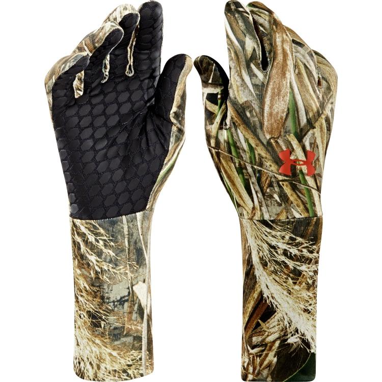 Перчатки для охоты демисезонные Under Armour Men's ColdGear Camo Liner Gloves