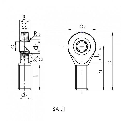 Купить Подшипник CRAFT SAL25-T/K.CRF-P