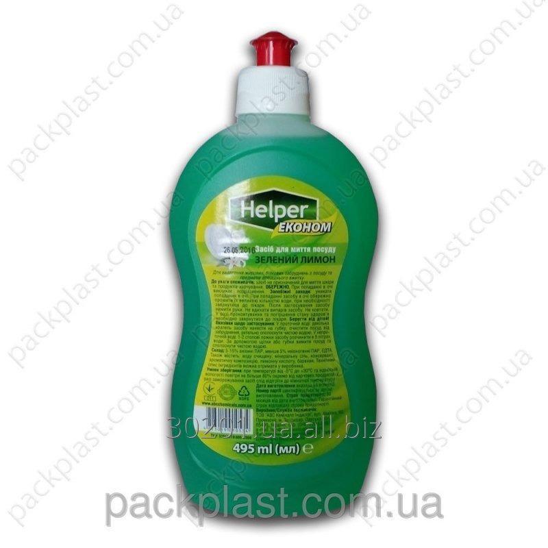 Купить Helper Эконом средство д/мытья посуды 495мл Зеленый лимон