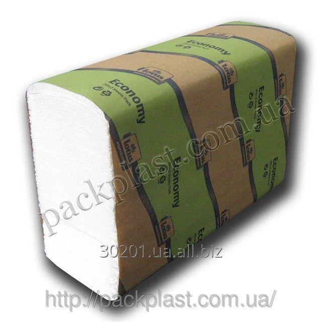 Купить Полотенца бумажные ZZ сложения MARATHON ECONOMY, 1 слой, 250 листов в пачке.