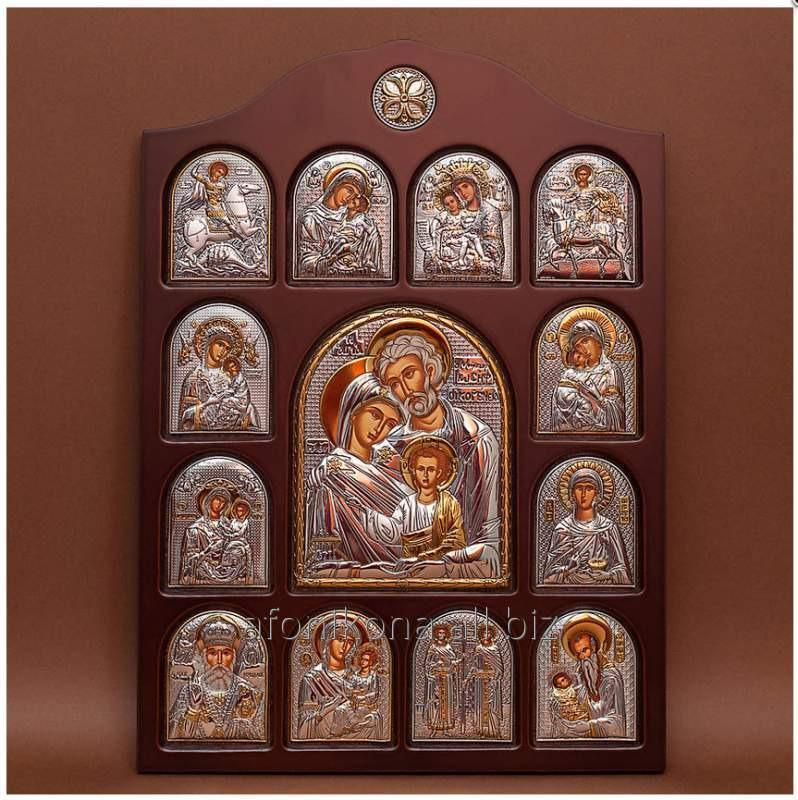 Buy Icon of an arch form In a wooden frame Iconostases the face registered the Holy Family