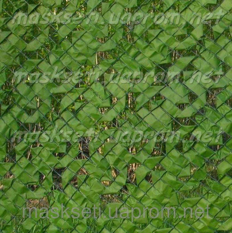 Купить Забор декоративный на основе пластиковой сетки светло-зеленый
