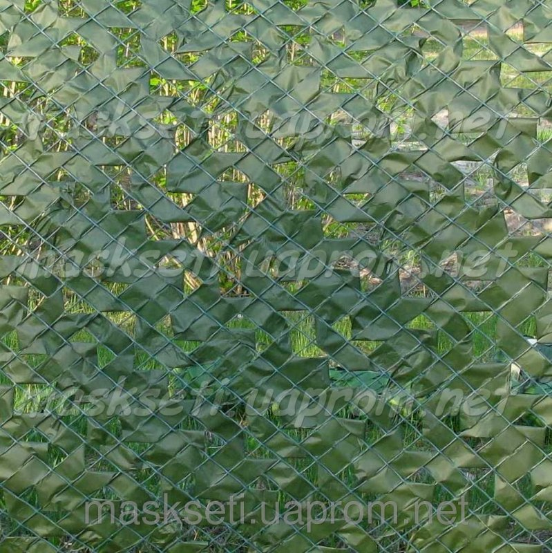 Купить Забор декоративный на основе пластиковой сетки темно-зеленый