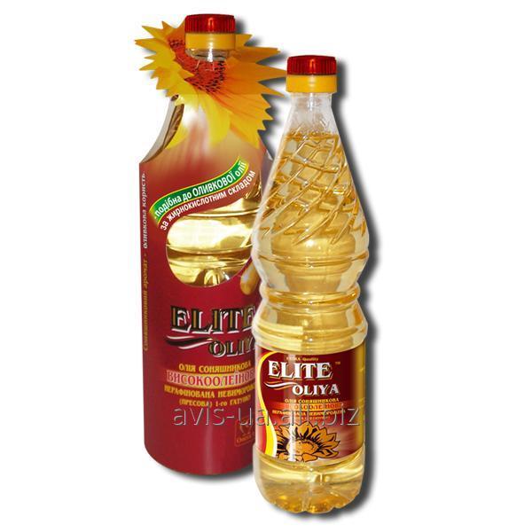 Купить Высокоолеиновое подсолнечное масло Элит Масло нерафинированное 0,8л