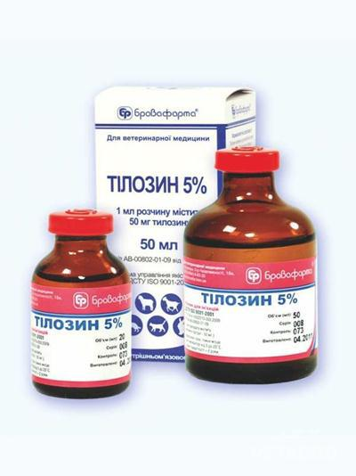 Купить Антибиотик Тилозин 5% 20мл