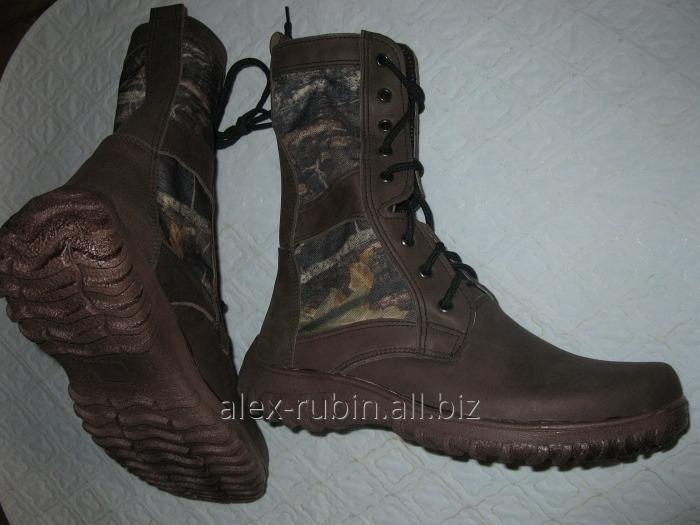 Купить Ботинки коричневые со вставками дубок