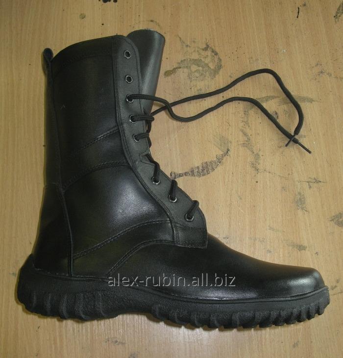 Купить Ботинки черные цельные без меха