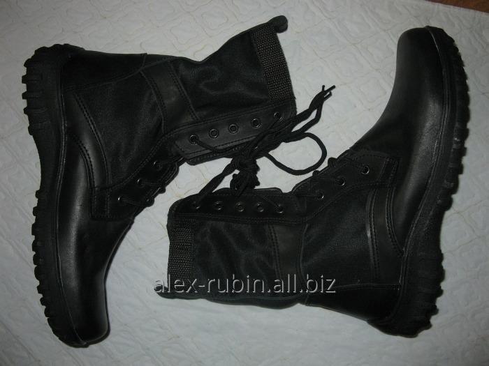 Купить Ботинки черные со вставками