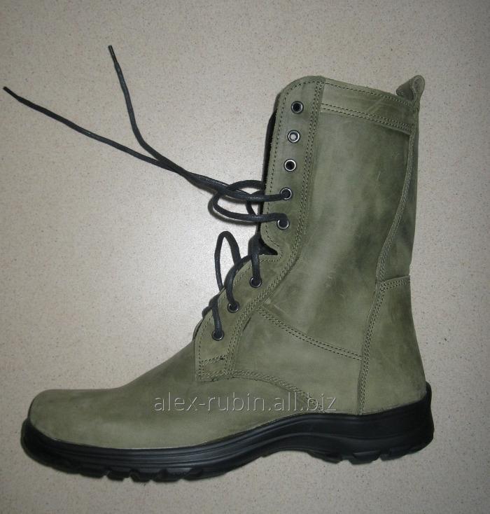 Купить Ботинки зеленые цельные с мехом
