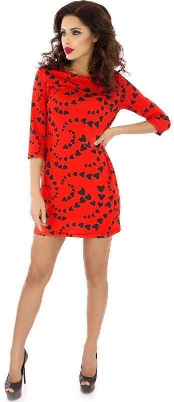 Купить Эффектное повседневное платье красного цвета