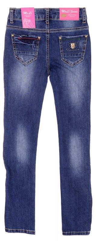 Купить Эффектные джинсы голубого цвета с потертостями