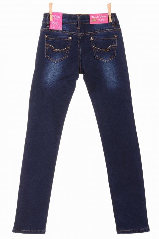 Купить Классические джинсы синего цвета на флисе