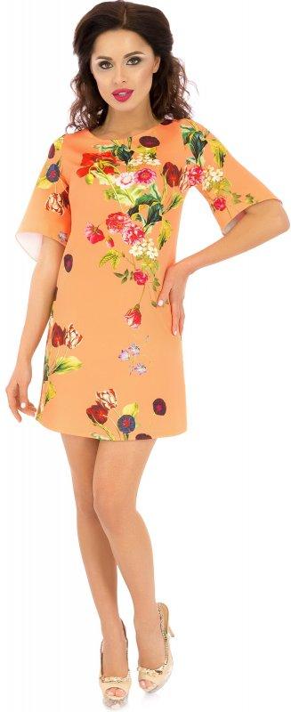 Купить Милое повседневное платье абрикосового цвета