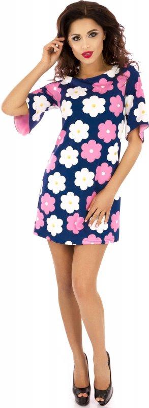 Купить Кокетливое повседневное платье синего цвета