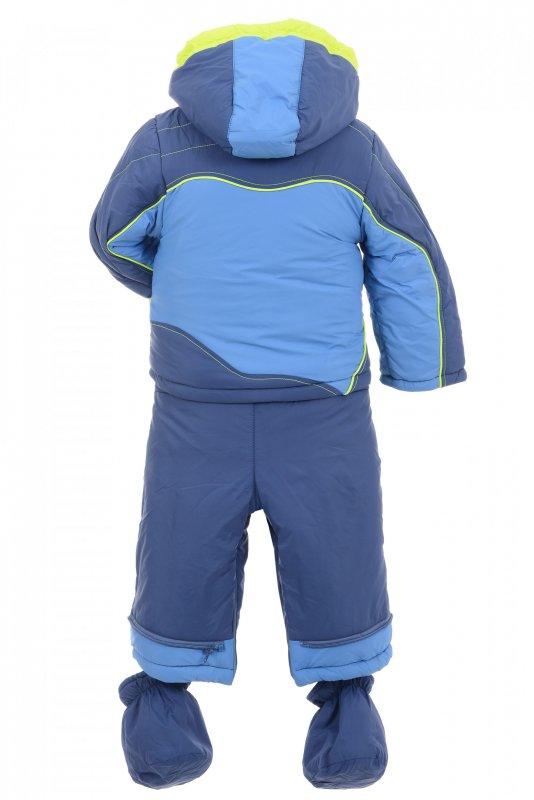 Купить Стильный теплый костюм голубого цвета