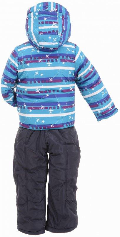 Купить Оригинальный теплый костюм голубого цвета с узором