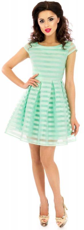 Купить Красивое легкое летнее платье зеленого цвета