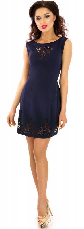 Купить Милое коктейльное платье синего цвета без рукавов