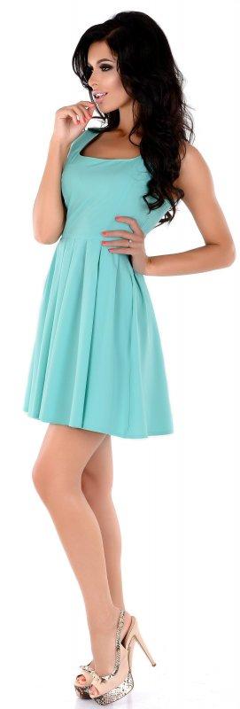 Купить Милое летнее платье цвета морской волны без рукавов