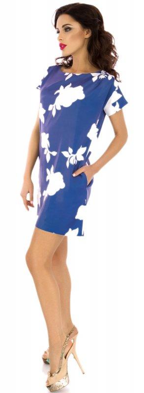 Купить Милое летнее платье голубого цвета с коротким рукавом