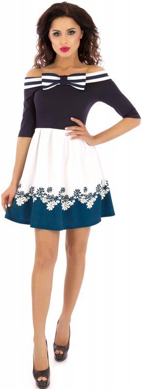 Купить Милое летнее платье с открытыми плечами