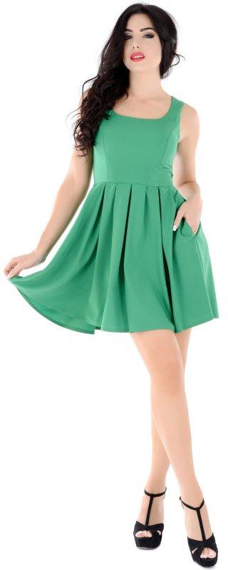 Купить Милое летнее платье зеленого цвета без рукавов