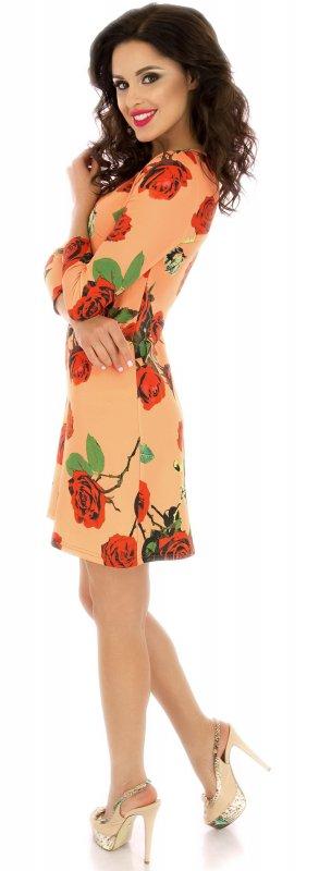 Купить Милое повседневное платье персикового цвета с длинным рукавом