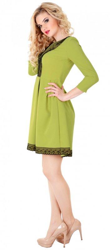 Купить Милое повседневное платье зеленого цвета