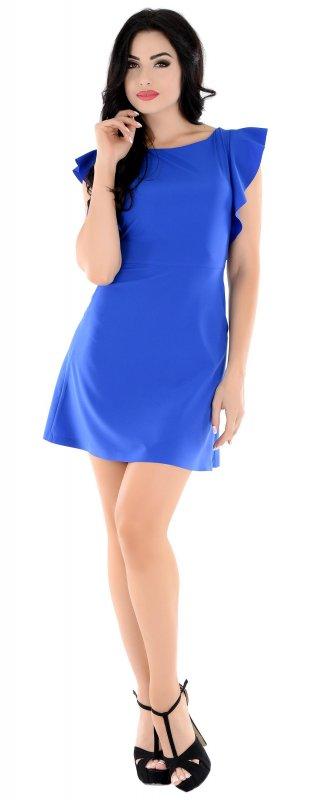 Купить Милое повседневное платье синего цвета без рукавов