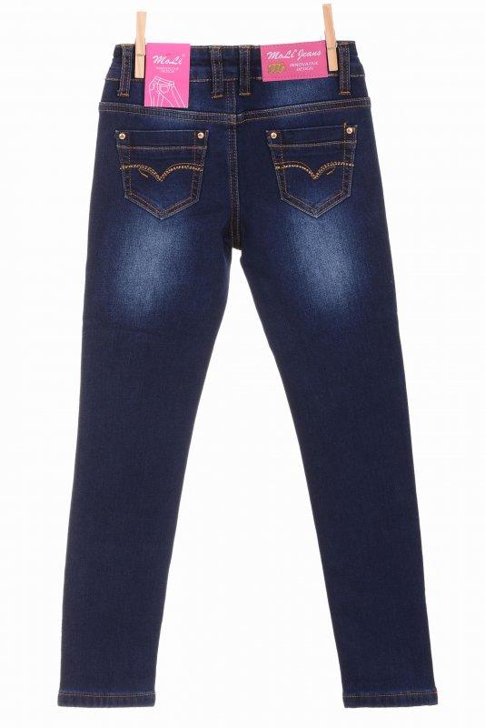 Купить Милые джинсы синего цвета на флисе