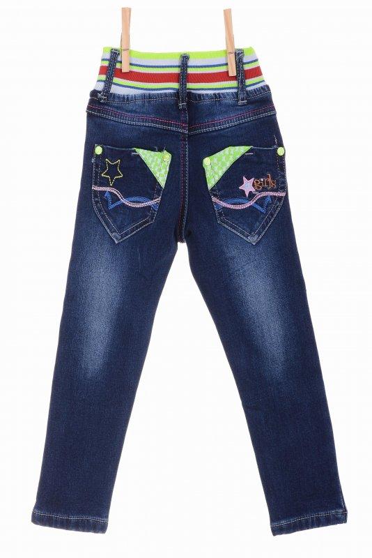 Купить Модные джинсы синего цвета на флисе