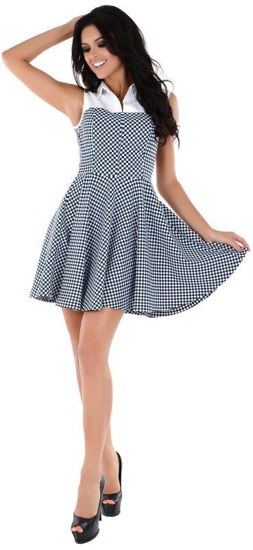 Купить Молодежное летнее платье в клетку без рукавов