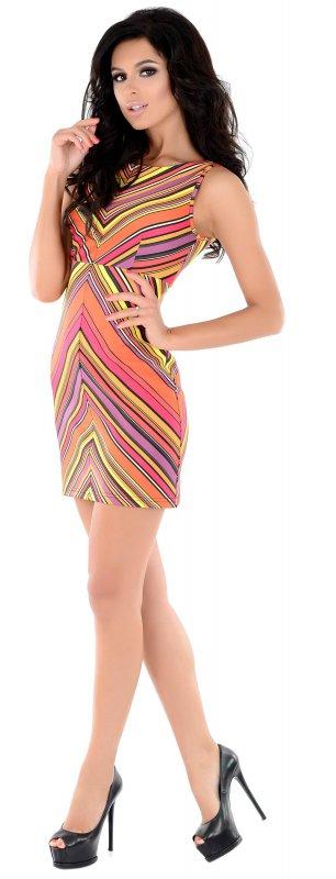 Купить Молодежное летнее платье в полоску без рукавов